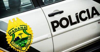 Bandido conduzindo moto tenta roubar bolsa de mulher em Jardim Alegre