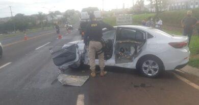 Motorista fica ferido em acidente na BR-369