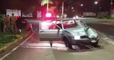 Motorista atropela idoso, foge do local e se envolve em acidente na BR-369