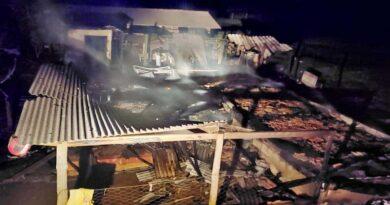 Incêndio destrói casa e família perde tudo