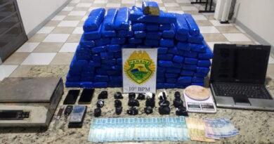 PM de Apucarana apreende mais de 75 Kg de maconha e cocaína