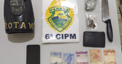 ROTAM prende dois suspeitos e apreende drogas em Ivaiporã