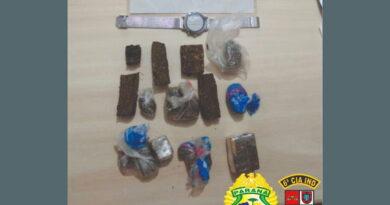 PM de Jardim Alegre prende suspeitos com drogas dentro do carro