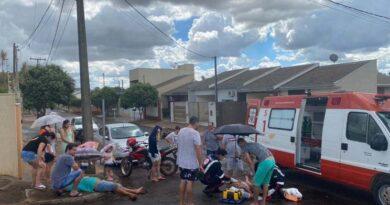 Colisão entre motos deixa dois feridos em São João do Ivaí