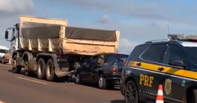 Quatro pessoas feridas em acidente na BR-369, em Cascavel