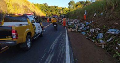 Motorista de caminhão morre em acidente na rodovia do Milho