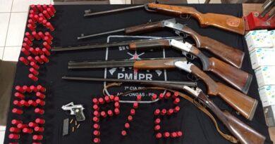 PM realiza apreensão de armas e munições em Arapongas
