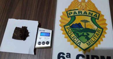 PM apreende em Jardim Alegre adolescente suspeito de tráfico