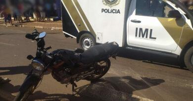 Colisão entre motos deixa um morto e duas pessoas feridas em Toledo