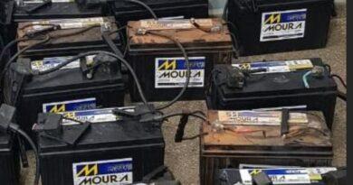 Ladrões furtam baterias de torre da Claro, em Jardim Alegre