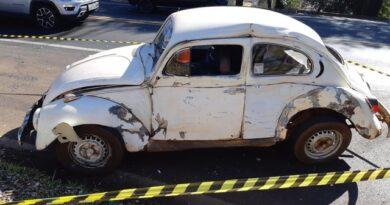Idoso morre em acidente entre caminhão e fusca na região central do Paraná