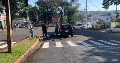 Ciclista fica gravemente ferido em acidente com carro em Ivaiporã