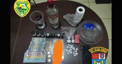 ROTAM prende suspeito em Ivaiporã em posse de cocaína